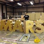3D letters for commercial sign at NASA Space Center