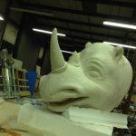 Rhino sculpture for safari theme
